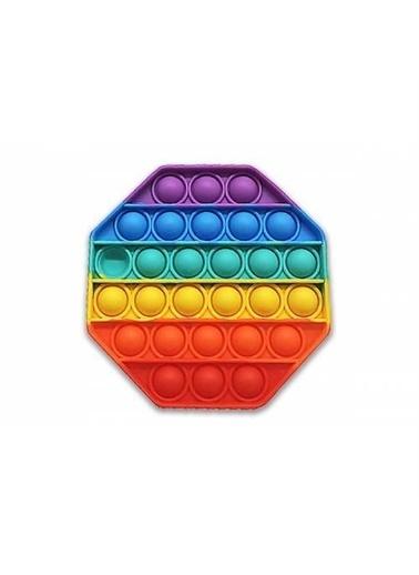 Mashotrend Sekizgen Push Pop - Pop It Push Bubble Fidget Özel Pop Duyusal Oyuncak Zihinsel Stres Renkli